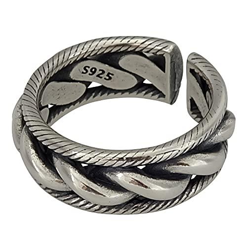 Moda Cruz grande 925 plata esterlina Unisex dedo anillo promoción regalo barato para las mujeres hombres joyería nunca se desvanecen