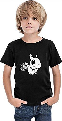 Death Bunny Boys Camiseta, Negro, 6-7 Años
