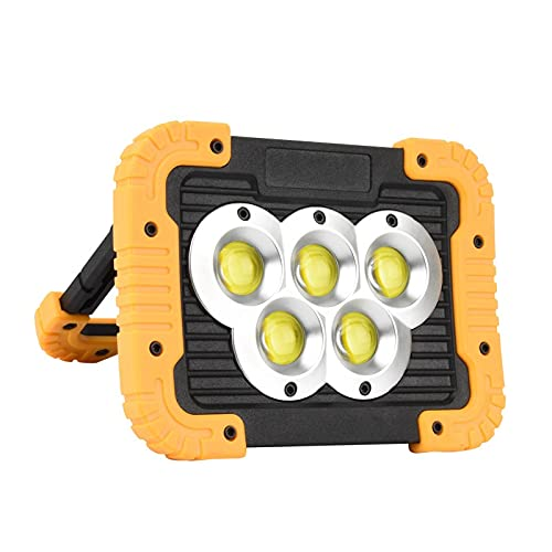 Proyector solar portátil, IP55 a prueba de agua, USB recargable para teléfono, Soporte de lámpara ajustable de 180 °, Luz de trabajo LED para acampar al aire libre Senderismo Emergencia ( Color : A )
