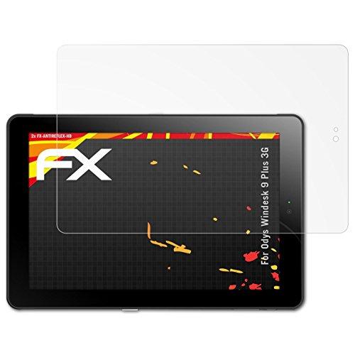atFolix Schutzfolie kompatibel mit Odys Windesk 9 Plus 3G Bildschirmschutzfolie, HD-Entspiegelung FX Folie (2X)