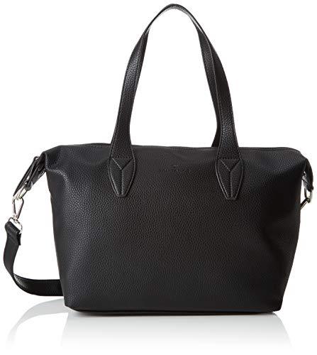 TOM TAILOR Handtasche Damen, Delia, Schwarz, 33x20x12 cm, Bowling Tasche