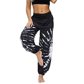 Lu s Chic Women s Thai Harem Pants Bohemian Yoga Pants Loose Indian Summer Boho Hippie Pants Style3 Large