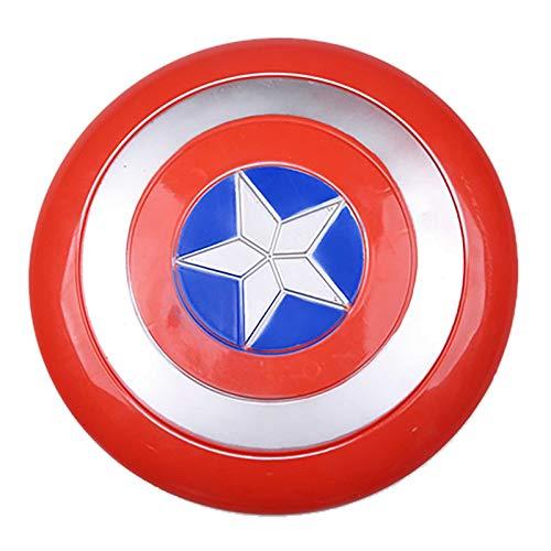 sookin Captain America Scudo Child's Marvel Avengers Assemble Halloween Costume Cosplay Puntelli Capitan America Scudo Regali Natale e Compleanno per Bambini Made of Plastic 12 Pollici