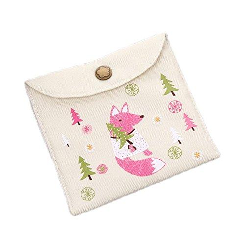 Emorias 1pc Portefeuille en forme d'écureuil mignon Charme voiture clé miroir rouge à lèvres sac à main Magnifique sac à crayons de maquillage
