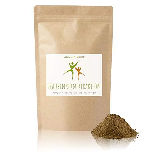Bio OPC Traubenkernmehl - 500 g - aus spanischen Traubenkerne gewonnen - Superfood in Rohkostqualität - 100% vegan und rein - glutenfrei, laktosefrei - OHNE Hilfs- u. Zusatzstoffe