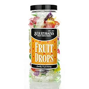 original fruit drops retro boiled sweets gift jar by berrymans sweet shop - classic sweets, traditional taste. Original Fruit Drops Retro Boiled Sweets Gift Jar by Berrymans Sweet Shop – Classic Sweets, Traditional Taste. 41Hw129 usL
