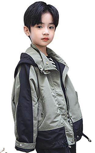 Kurtka chłopięca wiosenny styl modna kurtka chłopięca codzienna modna duża kurtka dziecięca (zielona)
