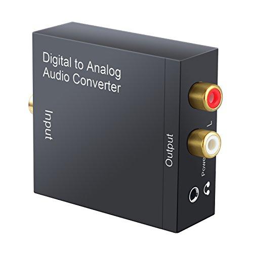 DAC Digital SPDIF Toslink zu Analog analoges Audio Adapter L/RR/Links/rechts L AV Stereo mit optischer Toslink Kabel Koax Digital zu Analog Konverter Analog RCA Audio Ausgang 3.5mm Klinkenstecker
