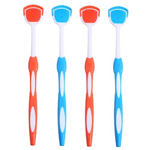 EXCEART 4Pcs Tong Schraper Nano Plastic Tongreiniger Professionele Oral Care Tong Schoonmaken Tool Tong Schrapen Borstel Levert Voor Frisser Adem