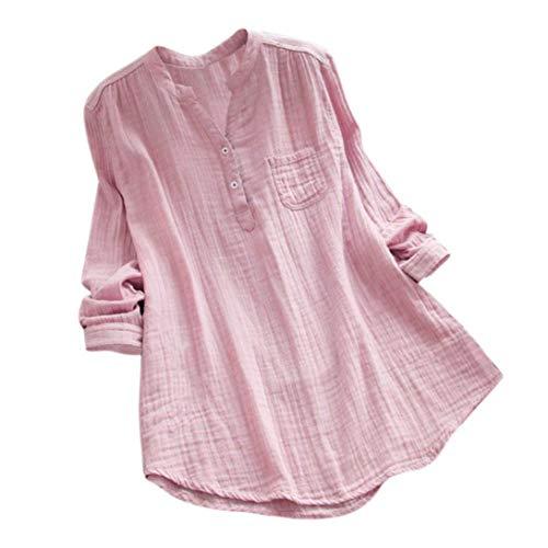 iHENGH Damen Tops, Women Herbst Stand Kragen Lange ÄRmel LäSsige Lockere Tunika Tops T Shirt Bluse