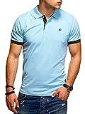 JACK & JONES Herren Poloshirt Polohemd Kurzarmshirt (L, Sky Blue/Tap Shoe)