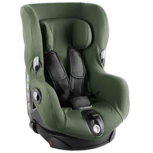 Ukje Bezug Maxi-Cosi Axiss Kindersitz Einfarbig dunkelgrün Schweißabsorbierend und weich für Ihr Kind Schützt vor Verschleiß und Abnutzung Öko-Tex 100 Baumwolle