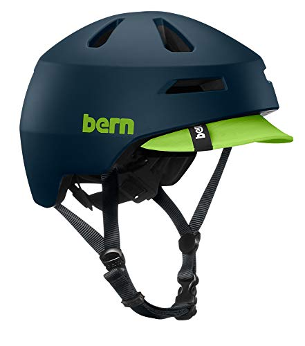 Bern Brentwood 2.0 Matte Muted Teal Visor-Small - Casco Unisex para Adulto, FR: S (Talla del Fabricante: S (52-55,5))