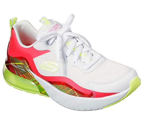 Skechers Zapatillas de deporte para mujer, blanco (Blanco/Rojo), 36 EU