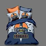 GuoDamei Batman Juego de Funda de Edredón 240x260 cm Juego de Ropa de Cama 3 Piezas Incluye 1 Funda Nórdica con Cierre de Cremallera y 2 Funda de Almohada 50x75 cm, Suave Transpirable