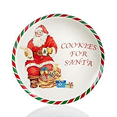 Spode Candy Cane Cookies for Santa Plate,