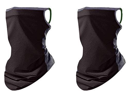 2 pcs Masks for Men/Women - Fashion Masks for Women - Sports Hats - Cool Masks for Jogging, Yoga, Against air Pollution, smog (Black)