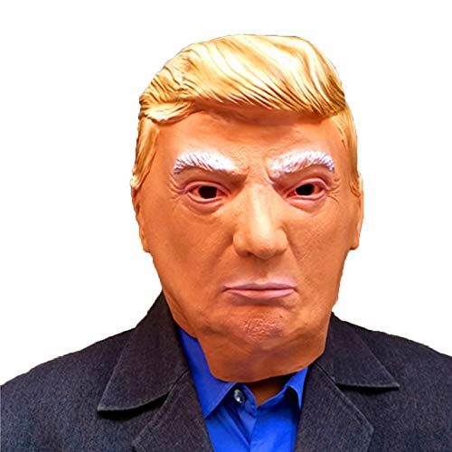 ZYEZI Donald Trump Latex Maske, Kostüm Milliardär Präsident Politiker Vollkopf Kostüm