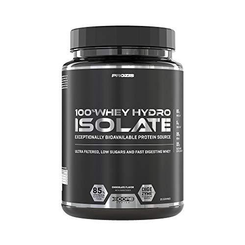 Prozis 100% Whey Hydro Isolate SS Mejor Sabor Para la Quema De Grasas, la Recuperación Muscular y la Musculación, bajo en Carbohidratos, Chocolate - 900 g