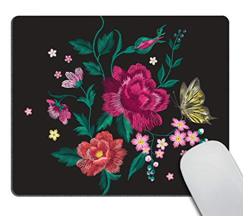 Smooffly Colorful Trend Floral Pattern Design Customized Rectangle Non-Slip Rubber Mousepad Butterfly Gaming Mouse Pad