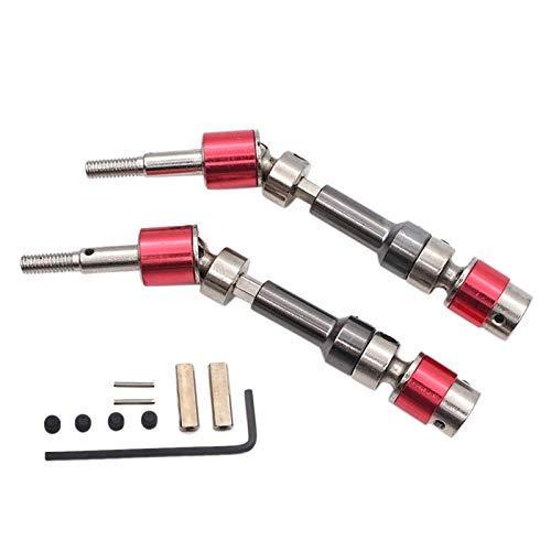 YELLAYBY Piezas de Bricolaje para WLTOYS 12428 12423 T-Power Metal Universal Drive Accesorio Kit de actualización Eje de tracción Delantera CVD