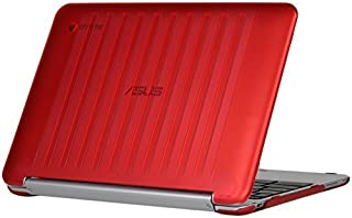 iPearl mCover Hard Shell Case for 10.1-inch ASUS Chromebook Flip C100PA series laptop (Red) [並行輸入品]