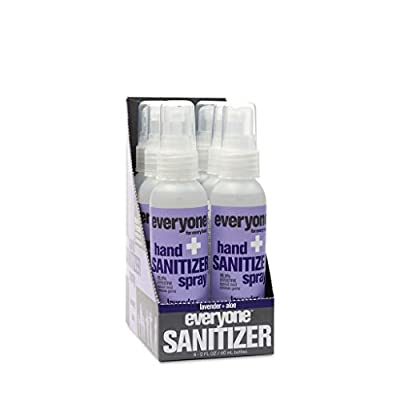Everyone Hand Sanitizer Spray: Lavender and Aloe, 2 Ounce, 6 Count