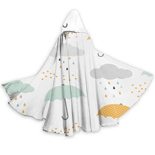 AQQA Dibujos Animados Lindo Divertido Colorido Paraguas Disfraz Capa con Capucha Capas 59 Pulgadas para Navidad Halloween Cosplay Disfraces