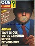 QUE CHOISIR [No 204] du 01/05/1985 - - ELECTROMENAGER - COMMENT S'Y RETROUVER DANS LE...