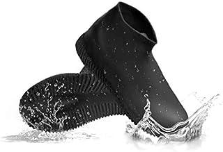 [DATAMO] シューズカバー 防水 靴カバー 雨 雪 泥除け 梅雨对策 アウトドア防水靴カバー 雨シューズ シリコン 滑り止め 軽量 携帯可 自転車用 通勤通学 男女兼用 子供も適用