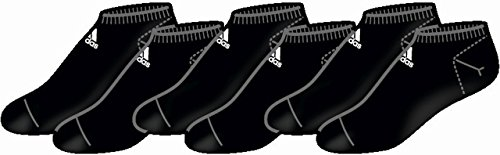adidas Calcetin Invisible Pinky Fino negro Pack de 3 pares - M