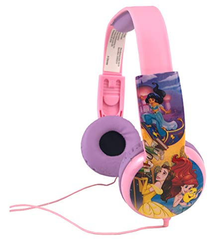 Disney Princess Kids Safe Headphones with Built in Volume Limiting Feature for Safe Listening