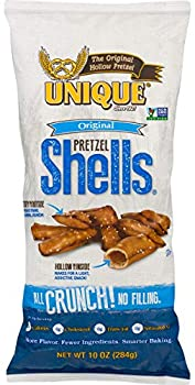 Unique Pretzel Shells Homestyle Baked Vegan Certified OU Kosher and non-GMO Original 10 Ounce  Pack of 12