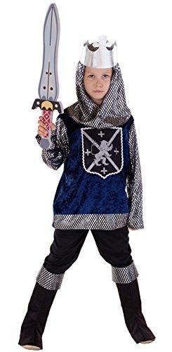 Magicoo Ritterkostüm Kinder Jungen Mittelalter Gr. 92 bis 140 - König Ritter Kostüm für Kind Fasching (122/128)