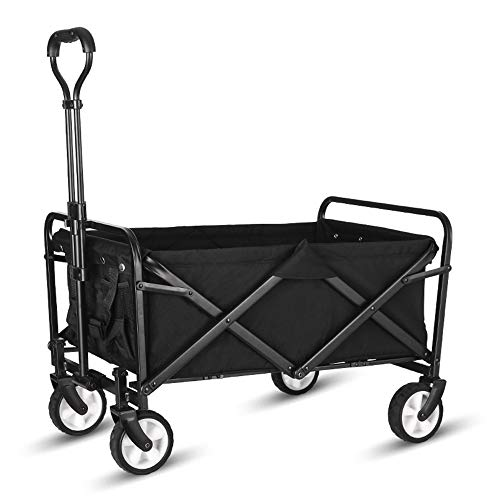 WHITSUNDAY Collapsible Folding Garden Outdoor Park Utility Wagon Picnic Camping Cart (Compact Size,...