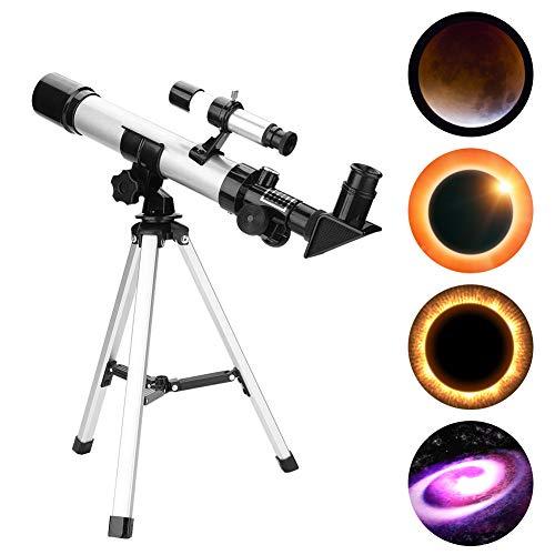 Pomya Teleskop für Kinder und Anfänger, Astronomisches Brechendes Teleskop, Tragbares Stativ-Kit Kinderspielzeug Kinderteleskop zur Erkundung des Mondes