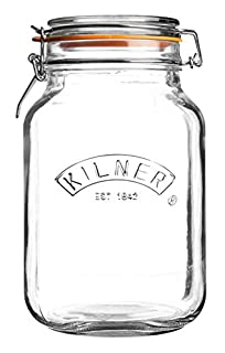 Kilner 0025.512 Square Glass Top Jar with Rubber Seal and Stainless Steel Clip, Transparent (B001DYUQZG)   Amazon price tracker / tracking, Amazon price history charts, Amazon price watches, Amazon price drop alerts