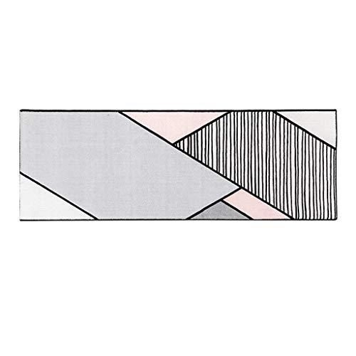 QFF woonkamer deur mat decoratie, bad matten lange strip tapijt Scandinavische stijl meisje hart mat eenvoudige bank slaapkamer tapijt slaapkamer zacht bed tapijt korte stapel Tatami anti-slip D 40*120CM Grijs