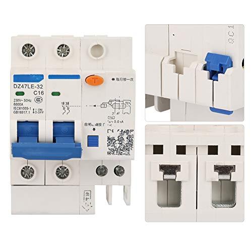 16A Mini 2P + 2 Disyuntor de corriente residual RCCB eléctrico para decoración del hogar