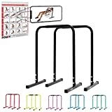 POWRX Dip Barren (Paar) inkl. Workout | Push Up Stand Bar | Dip Station | Fitness Rack | Core...
