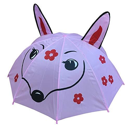 netproshop Kinderschirm Regenschirm Stockschirm Motiv REH Dm 65 cm Farbe Rosa, Motiv:Motiv 3