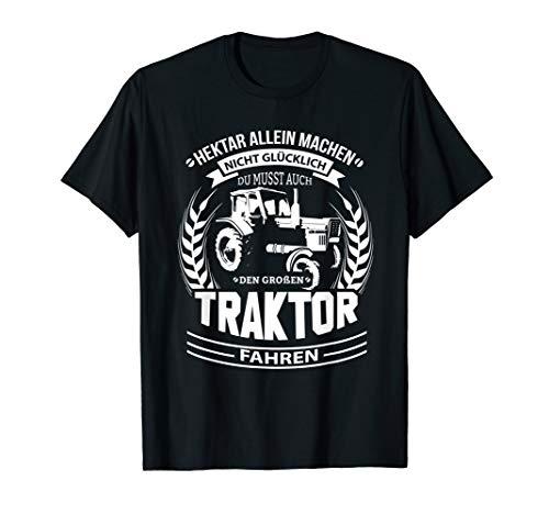 Landwirt Traktor Belarus Trecker Bauer Spruch Mit Hektar T-Shirt