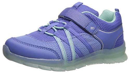 Stride Rite 360 baby girls Stride Rite Rocky Girl's and Boy's Washable Light-up Sneaker, Purple, 8.5 Toddler US