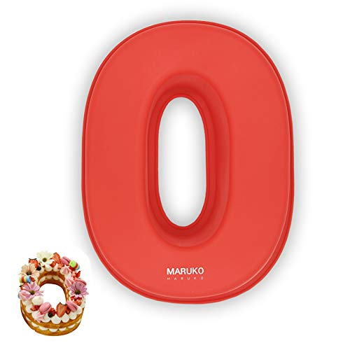 3D große Silikon Anzahl Kuchenformen, Geburtstag und Hochzeitstag Tag Silikon Backformen, Rechteck Neuheit Kuchenformen Oblong Cake Board 10 Zoll, Anzahl 0
