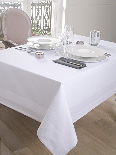 CALITEX Tischdecke Damassee Band Satin weiß (150x 250)