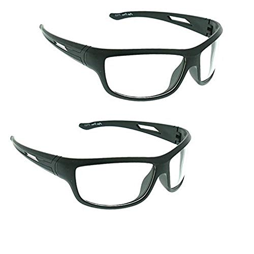 HIPPON Day And Night Vision Goggles for Riding Bikes Combo Pack of Driving Sunglasses for Men Women Boys & Girls (Clear Night Vision) - 2 Goggle Case