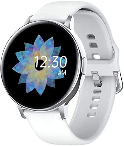 Reloj inteligente 1 pantalla Full Touch HD de 3 pulgadas Elegante conexión Bluetooth multifunción Recordatorio de información de sueño Podómetro deportivo impermeable (color: rosa) (plata)
