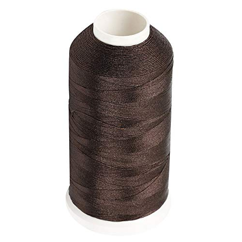 Desirable Life Bonded Nylon N66 Sewing Thread 1500 Yards Size #69 T70 210D/3 for Leather Denim Hand Machine Craft Shoe Bag Repairing Extra Strong Heavy Duty UV Rays Resistant Waterproof (Brown)