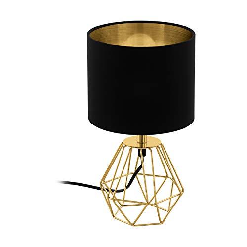 Lámpara de mesa EGLO CARLTON 2, lámpara de mesa vintage con 1...