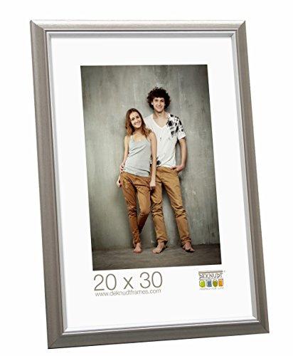 Deknudt Frames S42JD1 13 x 18 Cornice Grigio Argento Resina